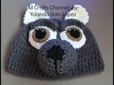 Crochet Wolf Beanie - Video Tutorial - YouTube