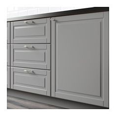 "IKEA - BODBYN, Door, 18x20 "", , BODBYN door has a frame and a beveled panel that give it a distinct, traditional character. Soft gray brings a touch of sophisticated color to your kitchen.Lacquered doors are smooth and seamless, resistant to moisture and staining and very easy to keep clean.25-year Limited Warranty. Read about the terms in the Limited Warranty brochure.You can choose to mount the door on the right or left side."