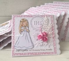 First Communion Cards, Diy And Crafts, Decorative Boxes, Stamps, Handmade, Scrapbooking, Passion, Sun, First Holy Communion