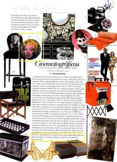 Um kit de porta copos inspirado na atriz Marilyn Monroe, da Elo7, foi publicado na Revista Viver Bem Casa, em matéria sobre produtos com inspirações cinematográficas.