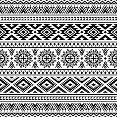 Ethnic Seamless Pattern In Black And White Color Tribal Pattern Aztec Vector Design Ikat Motifs Vector and PNG Motif Navajo, Navajo Pattern, Color Vector, Vector Design, Vector Art, Vector File, Geometric Graphic, Abstract Geometric Art, Vector Pattern