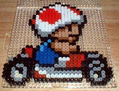 Paper Mario Perler Beads | Dark Brown Hairstyles