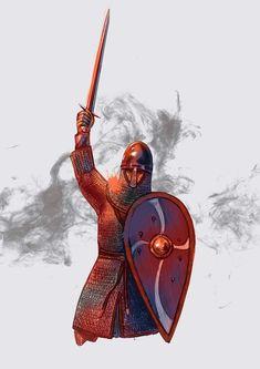 Medieval Knight, Medieval Armor, Medieval Fantasy, Norman Knight, Viking Garb, Armadura Medieval, Anglo Saxon, Second World, Dark Ages