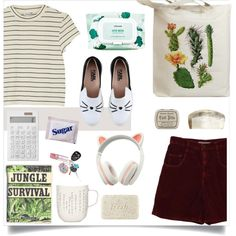 Back to College by nediam on Polyvore featuring mode, Monki, Karl Lagerfeld, Mamonde, Fresh, L'Artisan Créateur, Muji, iittala, Retrò and BackToSchool
