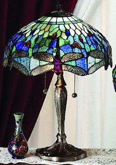 Blue Dragonfly Tiffany Table Lamp