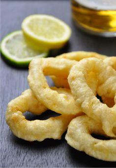 Receta 544: Calamares fritos envueltos » 1080 Fotos de cocina