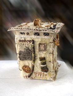 tiny felt house