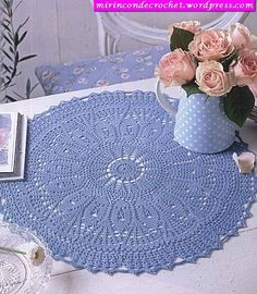 Pretty blue doily.  Pretty doily pattern and lovely blog.