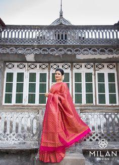 Milan offers a wide variety of Designer, Bridal & Wedding Sarees Online Kochi, Kerala, India. Kanjivaram Sarees, Kanchipuram Saree, Silk Sarees, Saris, Wedding Sarees Online, Saree Wedding, Saree Trends, Indian Look, Stylish Sarees