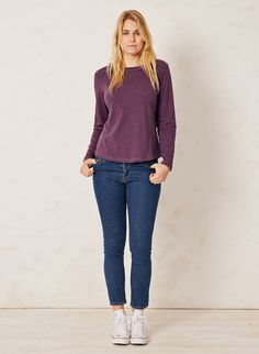 Purple Organic Top