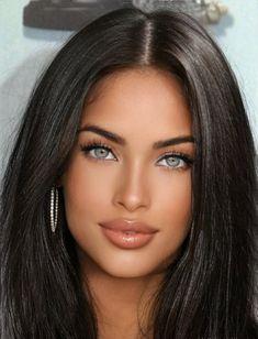 Most Beautiful Faces, Stunning Eyes, Beautiful Lips, Beautiful Girl Image, Gorgeous Women, Beauty Full Girl, Beauty Women, Brunette Beauty, Hair Beauty