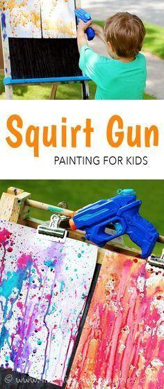 Squirt Gun Painting!