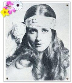 1970s boho wedding hair