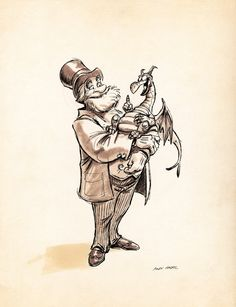 Disney's Dreamfinder and Figment. (Artist: Andy Gasril.)