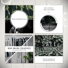 The Journey Instagram templates pack includes eight geometric and clean square designs and six story designs to take your account to the next level. Give your Instagram platform seasonal updates while keeping your look branded by regularly rotating out the graphics. All the