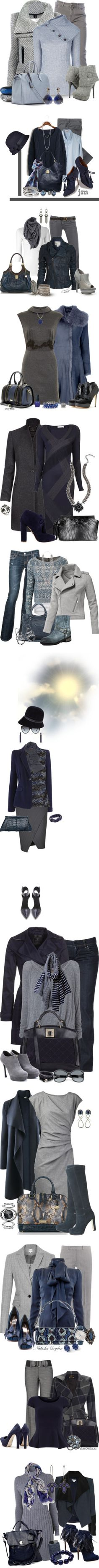 """""""Gray and Blue Contest"""" by jackie22 ❤ liked on Polyvore"""