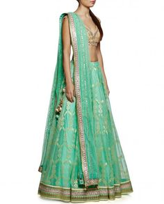 Green Gotta Patti Lehenga Set by Anita Dongre – Panache Haute Couture