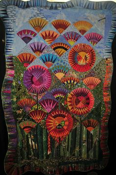 A selection of quilts from the 2008 Denver National Quilt Festival. Paper Pieced Quilt Patterns, Batik Quilts, Quilting Projects, Quilting Designs, Quilting Ideas, New York Beauty, Flower Quilts, Cat Quilt, Colorful Quilts
