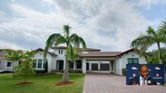 The South Florida home is 5,341 square feet and sits on just under an acre.  The home has six bedrooms, six bathrooms, and a large open floor plan with 12 foot ceilings.