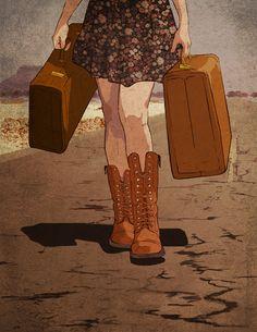 Ideas For Travel Bag Illustration Behance Silkscreen, Art Et Illustration, Oui Oui, Illustrations Posters, Just In Case, Pop Art, Art Drawings, Concept Art, Character Design