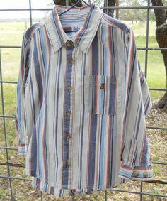 FOR SALE in Lone Raven Ranch eBay shop - please follow link.. http://www.ebay.com/usr/loneravenranch (subject to prior sale) Free Ship Baby Gap 4xl 100% Cotton Striped Button Up Shirt Long Sleeve 4 Yrs EUC #BabyGap #DressyEverydayHoliday