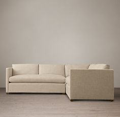 """Belgian Classic Shelter Arm Upholstered Corner Sectional.  99""""w x 99""""w."""