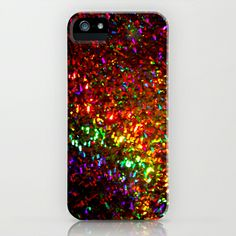 Fascination in gold-photograph of colorful lights iPhone Case