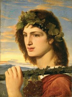Bacchus, or Dionysus, (Solomon, 1867 c.)  in Greek mythology was the God of grape harvest, winemaking and wine, of ritual madness and ecstasy. 'Father' of the famous Bacchanalia festivals and orgies.