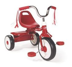 The Radio Flyer Folding Trike Red comes fully assembled for instant riding fun. The Trike is extremely safe offering a controlled turning radius and low center of gravity. The adjustable seat grows a...