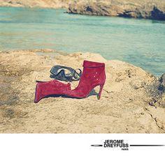 I always wear heels, even when i snorkel. Top Designer Brands, Designer Shoes, Jerome Dreyfuss, Boutique Homes, Pumps, Heels, Fashion Online, Branding Design, Christian Louboutin