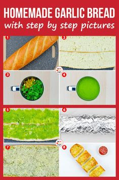 If you love garlic bread (well, who doesn't?), and have wondered how to make garlic bread at home, this is one homemade garlic bread recipe you must try! Garlic Bread At Home, Homemade Garlic Bread, Cheesy Garlic Bread, Quick And Easy Appetizers, Easy Appetizer Recipes, Appetizers For Party, Easy Bread Recipes, Breakfast Ideas, Breakfast Recipes