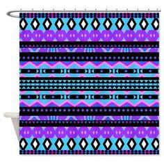 Purple Tribal Shower Curtain  Princess 4  Ornaart by Ornaart, $89.00