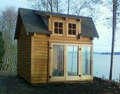cabaña de madera en kits