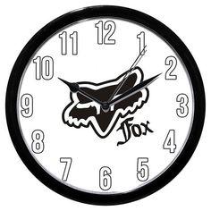 Fox Racing Logo Clock / Frisbee Golf Disc Clothing Motorcycles on Etsy, $26.99
