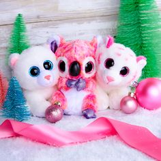 all three of my girls love these big eye stuffs. These adorable Ty Beanie Boos are waiting for their forever home with you. Ty Animals, Ty Stuffed Animals, Ty Beanie Boos, Beanie Babies, Ty Toys, Kids Toys, Ty Teddies, Ty Peluche, Beanie Boo Birthdays