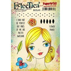 Paper Artsy CLARE LLOYD 09 ECLECTICA3 Rubber Cling Stamp ECL09 Preview Image