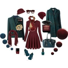 """Garnet and Teal Outfit"" by style-inspiration-and-design on Polyvore www.StyleInspirationAndDesign.com  by Lisa Sammons Events"