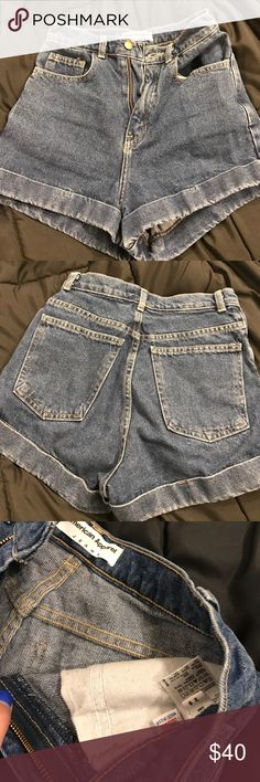 American apparel high waisted shorts Perfect for spring/summer/festivals American Apparel Shorts Jean Shorts