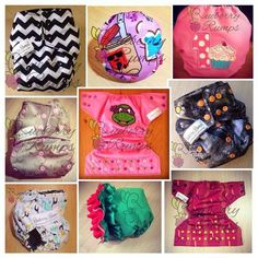 Adorable reusable cloth diapers handmade in the USA! Visit Rueberry Rumps on Facebook to order!