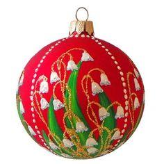 BestPysanky Three Peanuts Glass Christmas Ornament