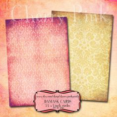 DAMASK SHABBY CHIC collage sheet, 6 designs, supplies for scrapbooking collage digital download
