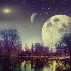 It is always a wonderful night for a moon dance in my world so get up and dance. Background Hd Wallpaper, Galaxy Background, Wall Wallpaper, Beautiful Moon, Beautiful Images, Beautiful Things, Moon Time, Moon Dance, Forest View