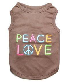 Parisian Pet Peace Love Dog T-Shirt, Medium - http://www.thepuppy.org/parisian-pet-peace-love-dog-t-shirt-medium/