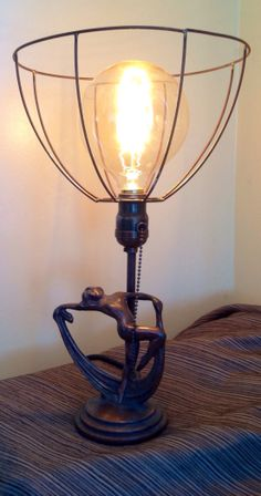 1920 Art Deco Lamp with ghost shade