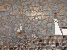 Sail the Deep Blue Sea #mosaic #fineart #homedecor #sail #surf #etsy #shop #home #wall https://www.etsy.com/listing/516744839/sail-away-with-sailboats-and-lighthouse