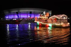 Delta Reflections Lighted Boat Parade in Downtown Stockton - A Stockton, California holiday tradition for 33 years!