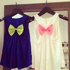 ❤ @Kim O'Rourke Kelley You would wear the blue one and i would wear the white one lol (: