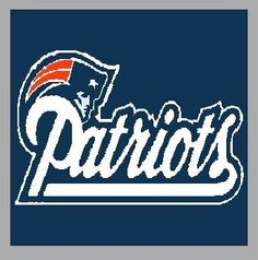 New England Patriots Crochet Afghan Pattern Free : New England Patriots Crochet Afghan Pattern Graph My ...