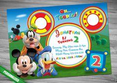 MICKEY Club House Invitation Mickey Invitation Mickey