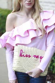 Pink Ruffle Top | A Daydream Love